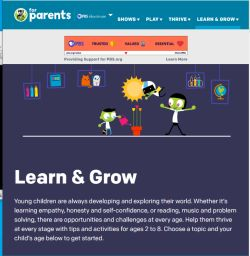 PBS site to help your child thrive and grow in all areas of their world.
