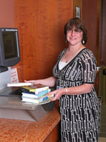 Christine Gramm, manager of Medina Library
