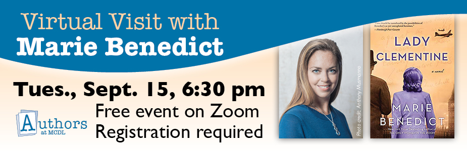 Join us for a virtual event via Zoom with author Marie Benedict.