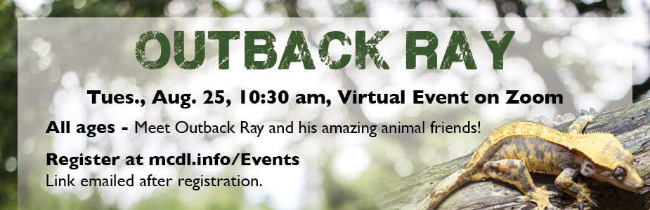 Join us on Zoom to meet Outback Ray and his amazing animal friends!